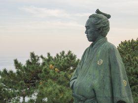 高知市の桂浜公園にある「龍馬像」