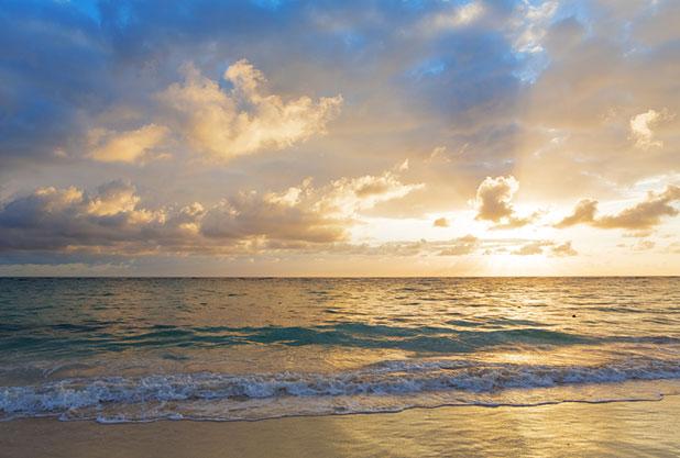 ハワイの朝日