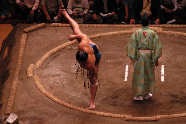 相撲観戦を社内イベントで