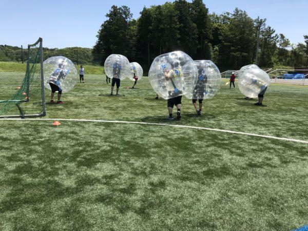 バブルサッカーにはいろいろなイベントに応用可能