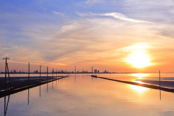 江川海岸で潮干狩り