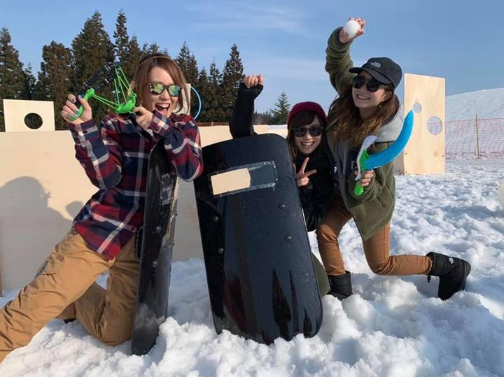 雪上運動会・雪合戦でチームビルディング