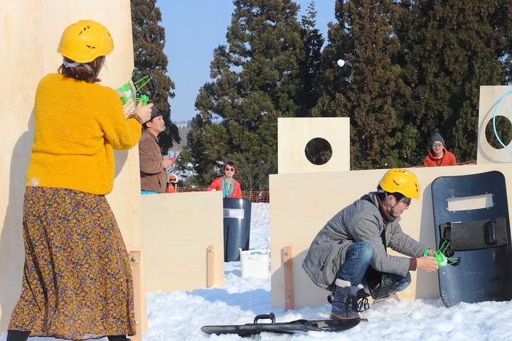 雪玉サバゲーや雪上運動会などバリエーション豊富