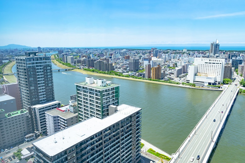 新潟市の眺め