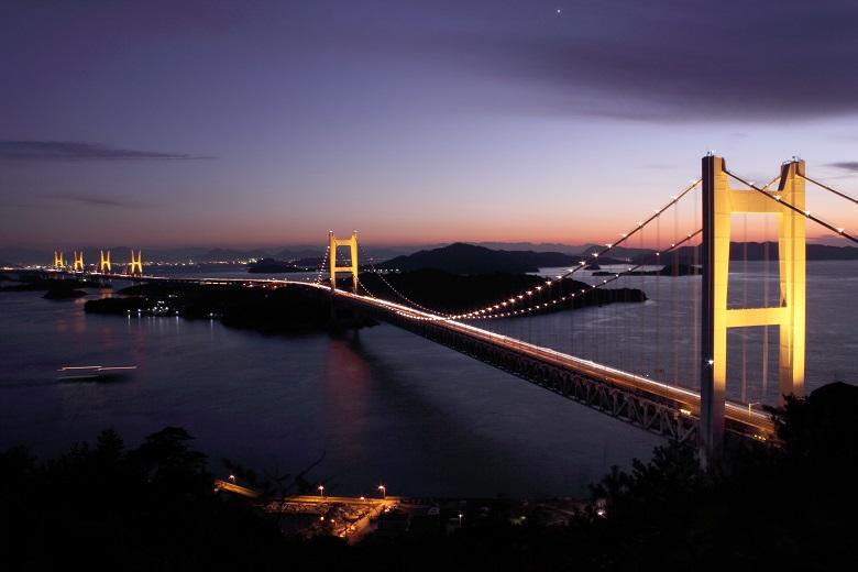 鷲羽山・瀬戸大橋の眺め