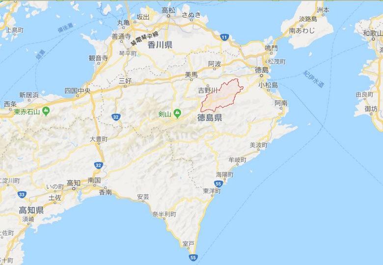 神山町地図