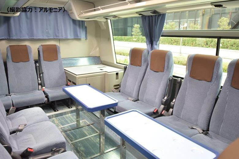 サロンタイプのバスは大人気