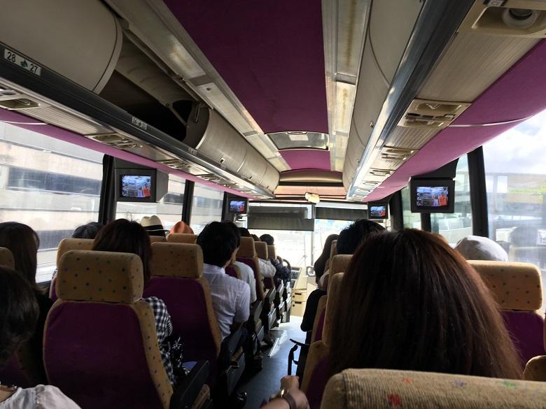 ハワイ到着後バスで移動