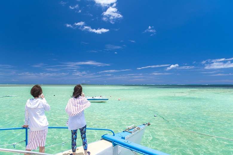 天国の海サンドバーツアー