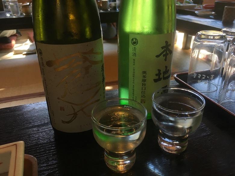 澤乃井のお酒飲み比べ