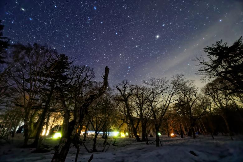 見晴キャンプ場の星空