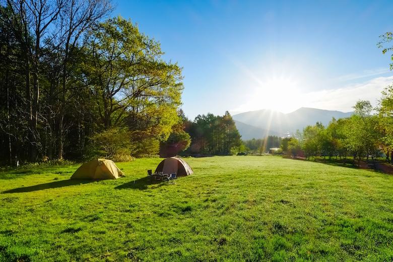 菅平高原キャンプ場の朝