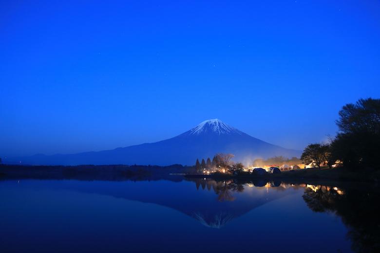 田貫湖キャンプ場の夜