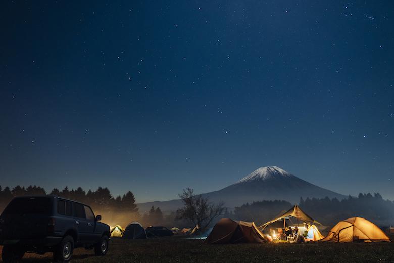ふもとっぱらキャンプ場の夜